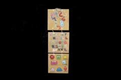 Juego mediano abecedario, números y formas